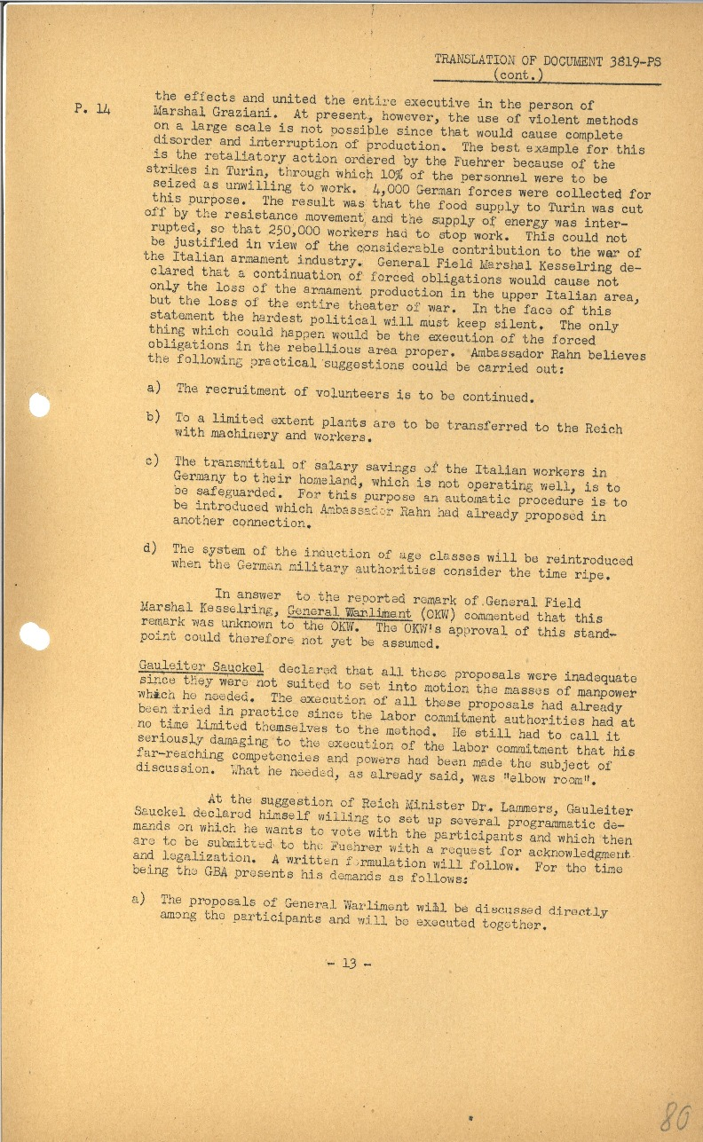 Nuremberg - Document Viewer - Memorandum to Hitler concerning the ...