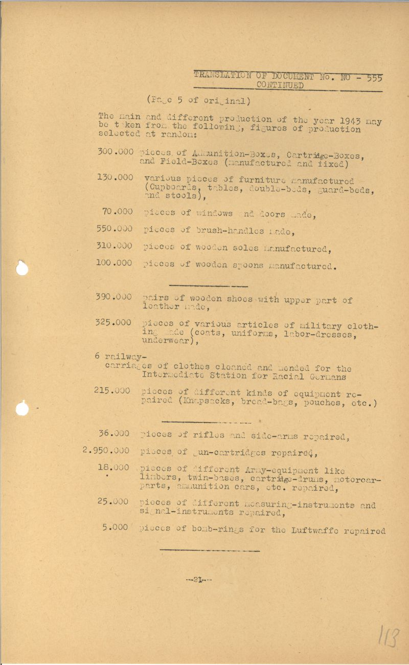 Nuremberg - Document Viewer - Business report of the German