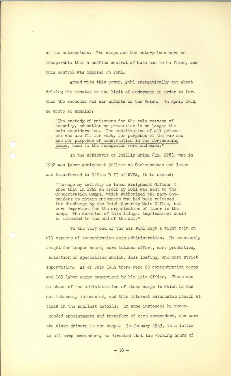 Nuremberg - Document Viewer - Opinion and judgment of the tribunal